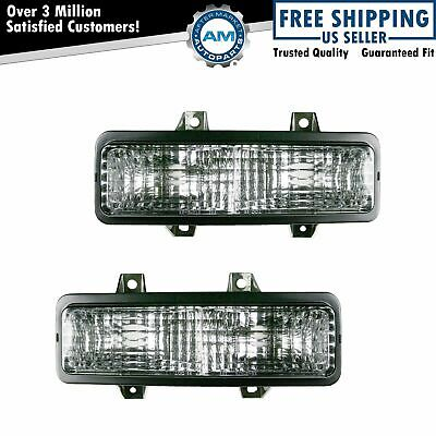 Corner Marker Signal Parking Light Pair Set for Chevy GMC Van Jimmy Pickup Truck
