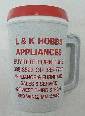 Plastic  Insulated Cup Advertising L & K Appliances Red Wing Minnesota