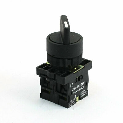 AC 240V 3A 2NO DPDT 2 Positions Selector Latching Rotary Switch Black