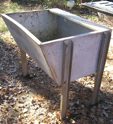 Antique Industrial Steel Usa Steampunk Basin Table Wash Stand Tub Garden Sink Us