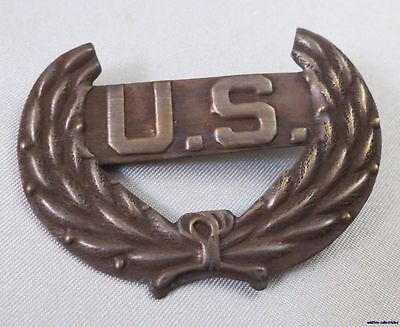 VINTAGE REPRO CIVIL WAR INSIGNIA PIN Back Military Army USA U.S. solid brass Mi