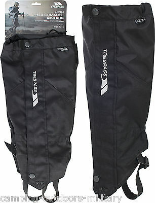 NEW TRESPASS Waterproof Breathable Performance GAITERS Black Walking Hiking