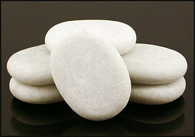 HOT STONE MASSAGE Set 6 Marble Cold Stones 7.5x5.5x1.5