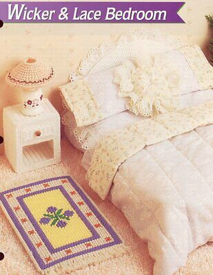 Wicker & Lace Bedroom Barbie Doll Plastic Canvas Pattern - 30 Days To Shop & Pay