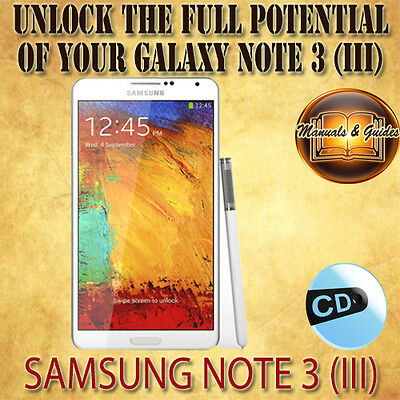 Samung Galaxy Note 3 (Iii) N9005 User Guide Manual/ Video Tutorials & Extra Cd