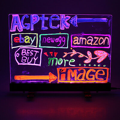 16x12 Flashing LED illuminated Writing Board Fluorescent Sign Message Dry Erase