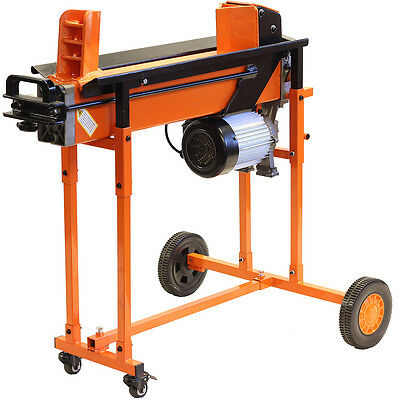 Fast Heavy Duty Electric Log Splitter 8 Ton Hydraulic Wood Timber Cutter Stand