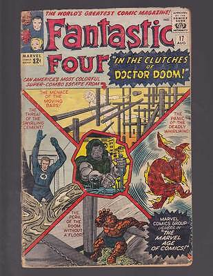Fantastic Four # 17  In the Clutches of Dr.Doom  grade 3.0 scarce hot book !!