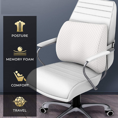 OFFICE Car BACK SUPPORT Lumbar CUSHION * Firm Memory Foam Seat Chair Booster 3d