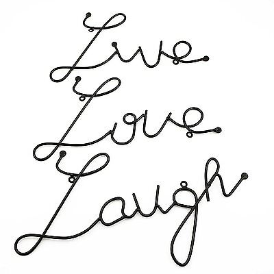 LIVE LOVE Laugh Set Of 60 Black Metal Wall Art Mount Sign Gorgeous Live Love Laugh Quote