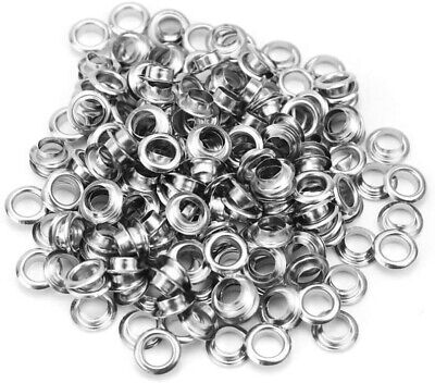 Large Silver Plated Jewelry Bead Cores, Eyelets, Grommets - Fits 5mm Bead Hole