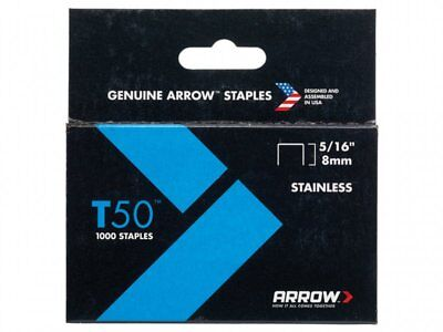 Arrow 505SS Stainless Steel Staples (1000) 8mm 5/16in