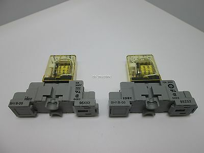 New Lot of 2 Idec SH1B-05 Relay Socket w/Idec RH1B-UL Relay *See Details*