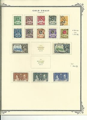 Gold Coast 1875 to 1954 Collection on Scott Specialty Pages, SCV $593