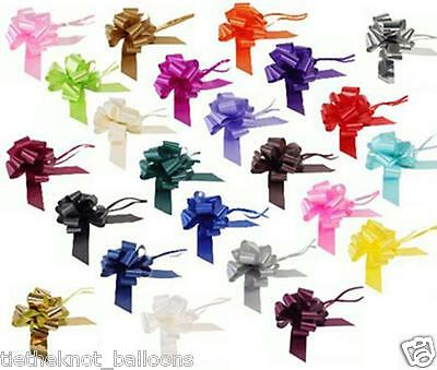 """6 Metres 2"""" Ribbon & 1 50Mm Pull Bow Christmas Birthday Gift Wrap 17 Colours"""