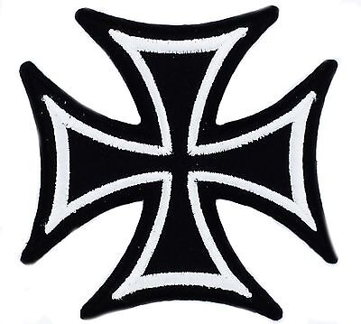 Maltese GERMAN IRON CROSS Iron on Embroidered Patch  black