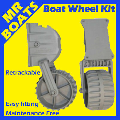 ✱ INFLATABLE BOAT WHEELS ✱ Small boat Tinnie Tender Dinghy dolly wheel FREE POST