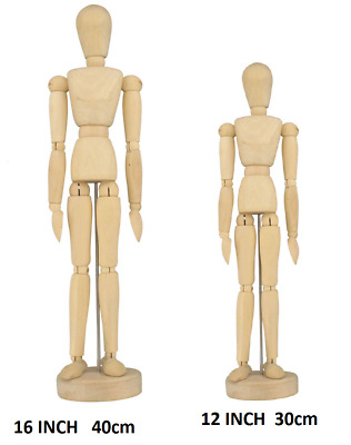 "Artist Wooden Manikin Mannequin 12"" Inch Sketching Lay Figure Drawing Model Aid"