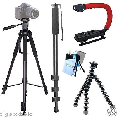 Action Tripod Kit for GoPro Cameras fits Hero, Hero2, Hero3, Hero3+ Cameras