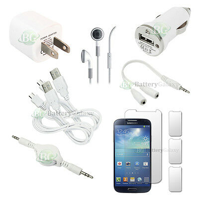 10pc NEW 2X USB Cable+2X Charger+Headset for Android Phone Samsung Galaxy S4 HOT