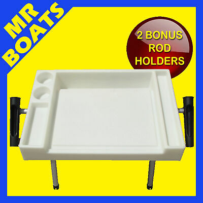 X-LARGE BAIT CUTTING BOARD * With 2 SIDE ROD HOLDERS * FREE POST Boat Fishing