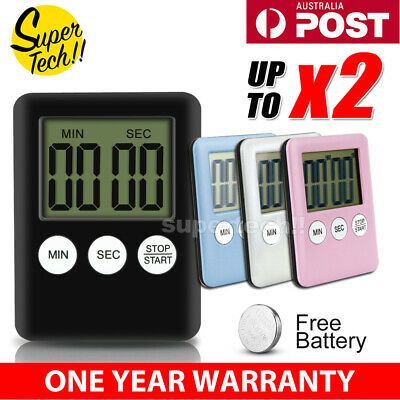 Electronic Digital LCD Magnetic Countdown Timer Count Down Egg Kitchen 99 Minute