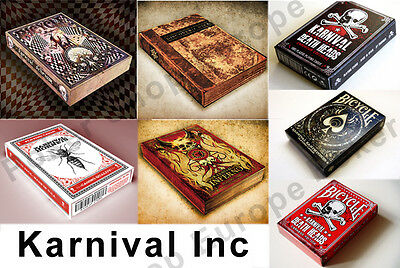 Karnival Bicycle Playing Cards Delirium Discoverie Inferno Death Heads Carnage