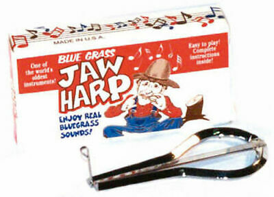 Bluegrass Jaw Harp Nickel Plated Steel *New* Made USA Boxed With Instructions