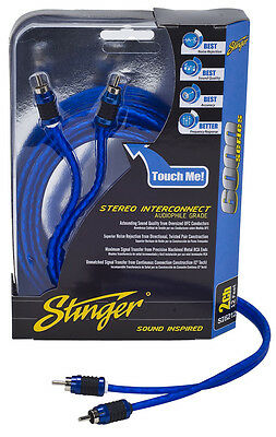 Stinger Pro 6000 Series Audiophile 20' 2 Channel RCA Interconnects Cable SI6220