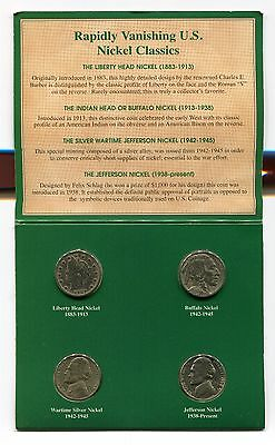 American Nickels of the 20th Century, Liberty Head , Buffalo & Jefferson Nickels