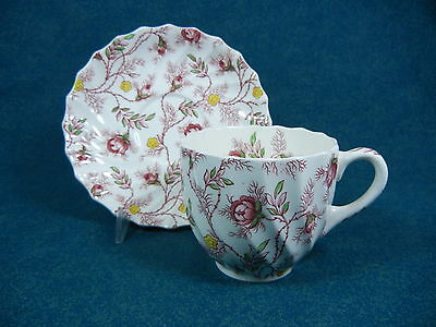 Copeland Spode Rosebud Chintz Tall Coffee Cup and Saucer Set(s)
