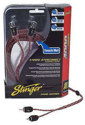 Stinger Pro 4000 Series Audiophile 3' 2 Channel RCA Interconnects Cable SI423