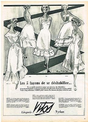 Publicite Advertising 024 1955 Cidena Lingerie Nuisette Other Breweriana