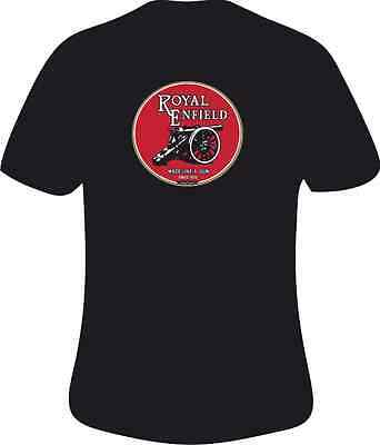 Royal Enfield   Motorcycles Round  Style Motorcycle Printed T Shirt in 6 Sizes