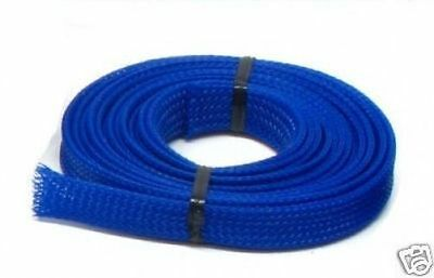 UV Blue Cable Sleeving - 3 metres x 9mm
