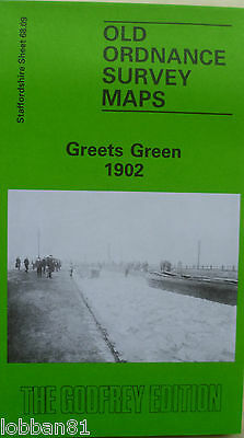 Old Ordnance Survey Maps Greets Green near Dudley 1902 Godfrey Edition New