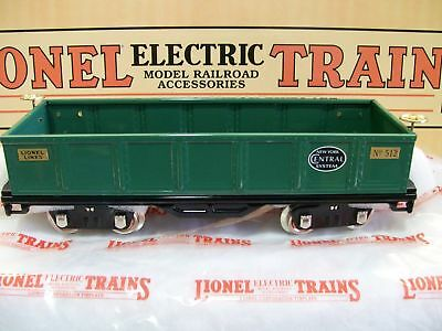 Lionel Lines MTH Tinplate New York Central  # 512 Green Gondola Lionel Corp. NEW