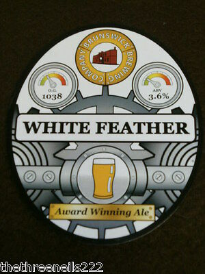 Beer Pump Clip - Brunswick White Feather
