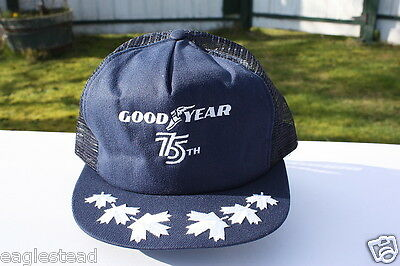 Ball Cap Hat - Goodyear Canada - 75th Anniversary - c 1985 - Tire (H687)