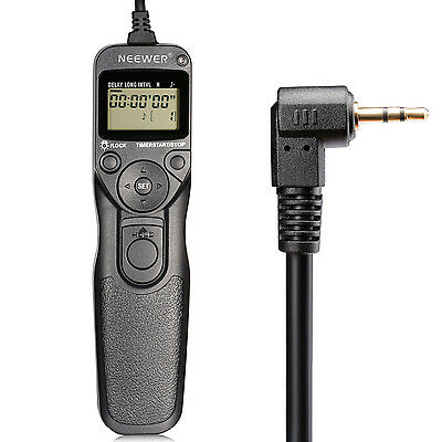 Neewer LCD Timer Shutter Release Remote Control for Canon EOS Digital Rebel