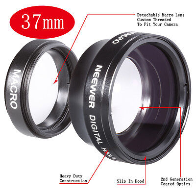 37 mm Super Wide Angle Lens with 0.45x Magnification for Cameras
