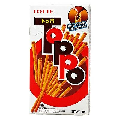LOTTE TOPPO Pocky Chocolate Japanese Biscuit Cookies Pretzels