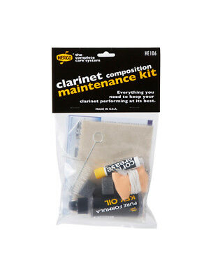 HERCO - Composite Clarinet Maintenance Kit HE106 *NEW* Cork grease, key oil