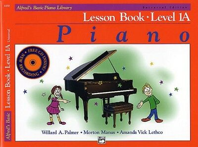 Alfred's Basic Piano Library Course Lesson Level 1A Book & CD *NEW*