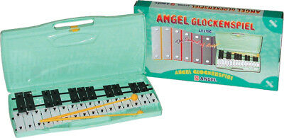 ANGEL Chromatic Glockenspiel *NEW* 27 black & white steel bars, case, beaters