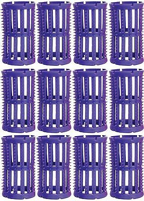 Hair Setting Rollers & Plastic Pins For Curls LILAC 36mm diameter Pk 12 Skelox