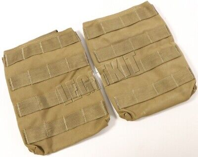 """London Bridge LBT-6128A MOLLE Side Plate Pouch, 6""""x8"""" (PAIR OF 2) Coyote Brown"""