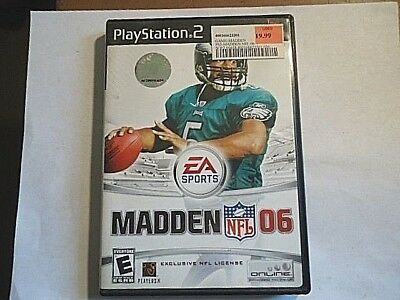 Madden NFL 06 (Sony PlayStation 2, 2005) COMPLETE WITH CASE & MANUAL