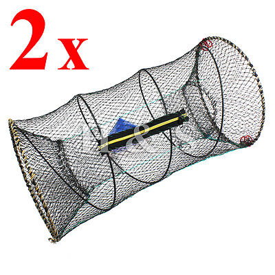 5 x KING SIZE LOBSTER CRAB CRAYFISH BAIT FISH TRAP CAGE POT BOAT SEA FISHING