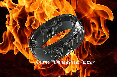 "Black TUNGSTEN ""The One Ring"" With Chain LORD"